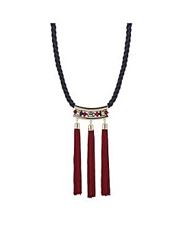 Mood Multi tassel rope necklace