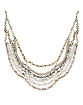 Mood Statement beaded bib necklace