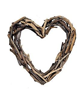 Natural Driftwood Heart