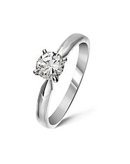 18ct White Gold 0.5Ct Diamond Ring