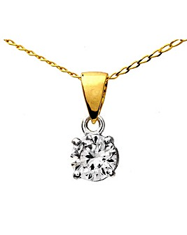 18ct Gold 0.33Ct Diamond Pendant