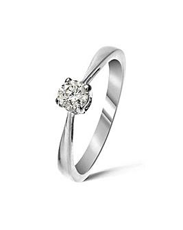 9ct White Gold 0.33Ct Diamond Ring