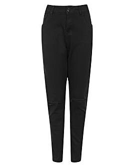 Elvi Genoa Ripped Jeans In Black