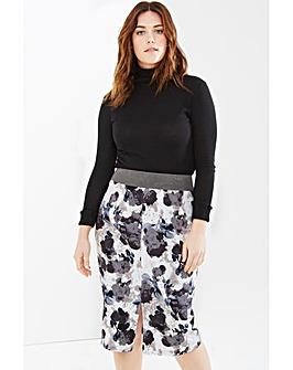 Elvi Floral Print Skirt