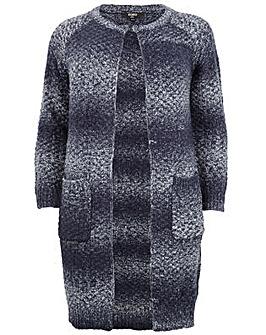 Koko Longline Contrast Knit Cardigan