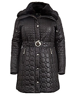 Koko Fur Collar Quilted Parka Jacket