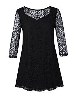 Grace Made in Britain net lace tunic