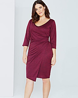 Girls On Film Plum Wrap Dress