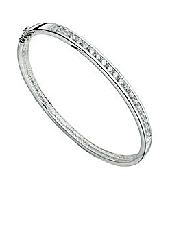 Channel Set Cubic Zirconia Bangle