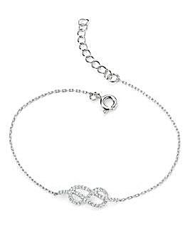 Clear Cubic Zirconia Infinity Bracelet