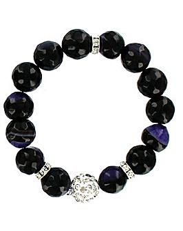 Natural Stone Elasticated Bracelet