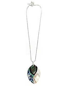 Lizzie Lee Abalone Pendant Necklace