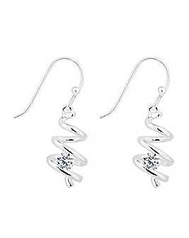 Simply Silver Spiral Drop Earring