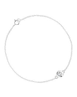 Simply Silver Round Link Bracelet