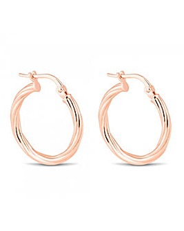 Simply Silver Rose Gold Hoop Earring