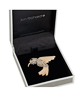 Jon Richard Crystal Hummingbird Brooch
