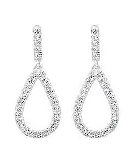 Simply Silver Open Teardrop Earring