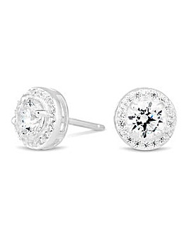 Simply Silver Mini Clara Stud Earring