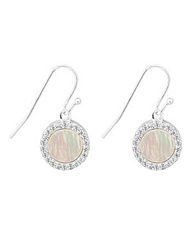 Simply Silver Pearl Surround Earring