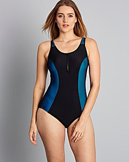 Simply Yours Mesh & Zip Swimsuit