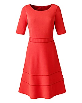 Tomato Textured Piped Skater Dress L38in