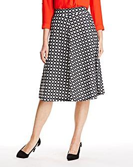 Geometric Flared Skirt