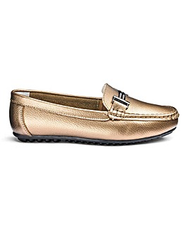 Heavenly Soles Leather Loafers EEE Fit
