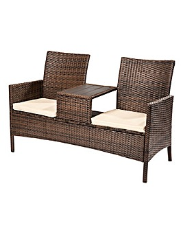 Cannes Rattan Love Seat