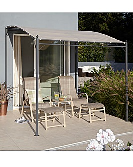2.5M Metal Polyester Coated Wall Gazebo