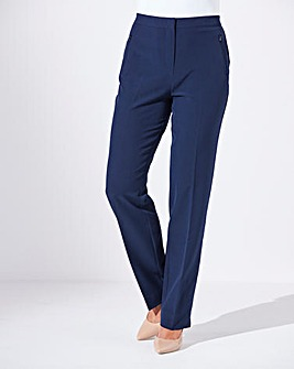 Zip Stretch Trousers Length Regular