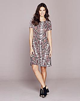 Printed Jersey Skater Dress