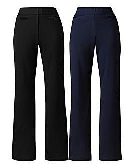 Pack 2 Straight-Leg Trousers Short