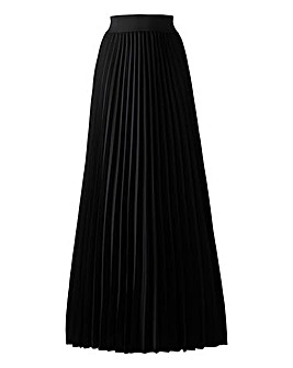 Pleat Maxi Skirt