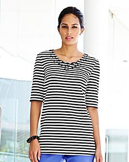 Stripe Jewel Jersey Top