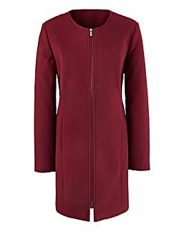 Collarless Coat