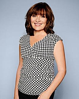 Lorraine Kelly Spot Cross Over Top