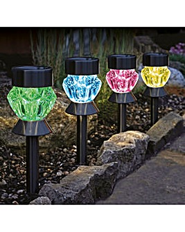 Smart Garden Black Nickle Glass Lights