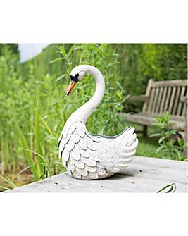 La Hacienda White Metal Swan