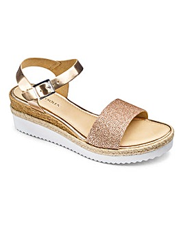 Heavenly Soles Glitter Vamp Sandal D Fit