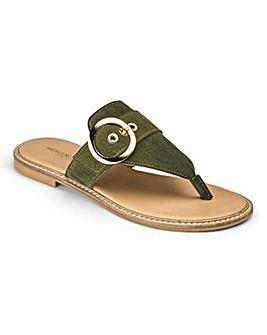 Heavenly Soles Toe Post Sandals D Fit