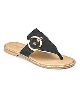 Heavenly Soles Toe Post Sandals D Fit