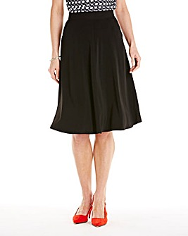Black Flared Skirt L28in