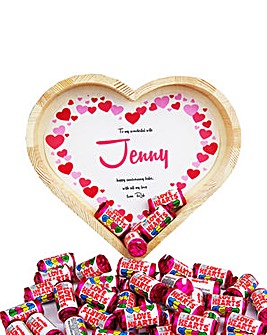 Personalised Love-Hearts Heart Tray