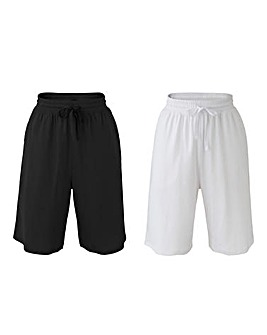 Pack of Two Pull On Stretch JerseyShorts