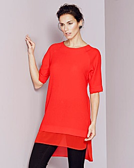 Double Layer Longline Crepe Top