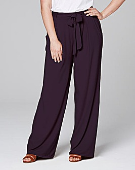 Jersey Wide Leg Trousers Regular