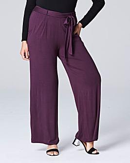 Jersey Wide Leg Trousers Short