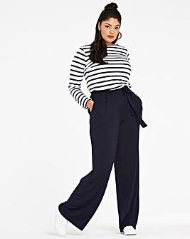 Stretch Jersey Wide Leg Trousers Regular