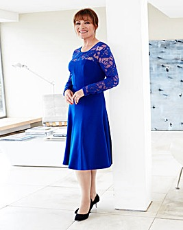 Lorraine Kelly Lace Sleeve Dress
