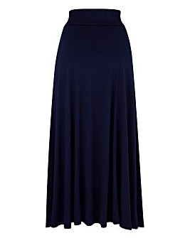 Jersey Panelled Maxi Skirt 35in